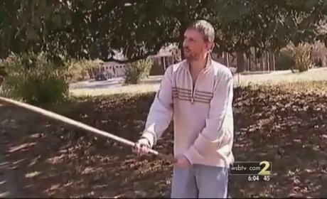 Guy Fends Off Burglars With Shovel