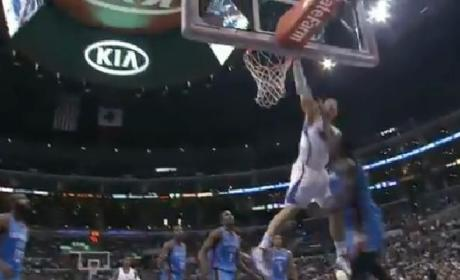 Blake Griffin Dunks Over Kendrick Perkins