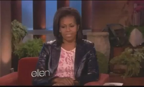 Michelle Obama Battles Ellen DeGeneres in Push-Up Contest