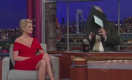 Kate Upton on Letterman