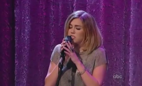 Miley Cyrus Performs Bob Dylan Cover on Jimmy Kimmel Live