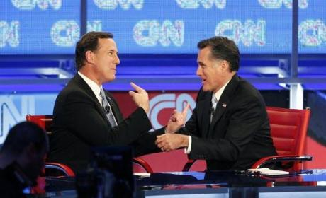 Republican Debate: Mitt Romney Seeks to Derail Rick Santorum, Newt Gingrich Kind of Throws in Towel