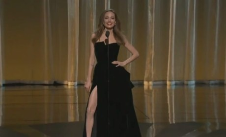 Angelina Jolie Presents at Oscars