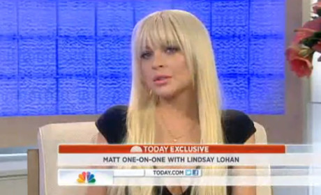 Lindsay Lohan Today Show Interview: Don't Call it a Comeback!