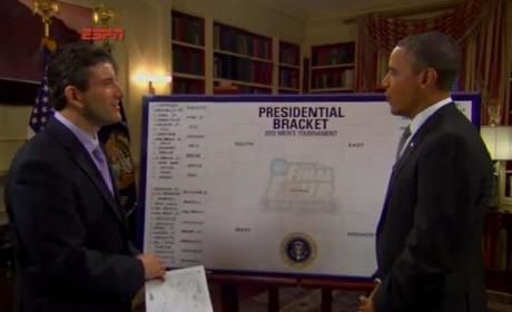 Barack Obama Makes NCAA Tournament Selections