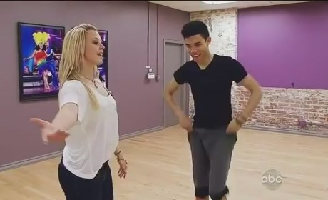 Roshon Fegan Cheered By Britney Spears on Dancing With the Stars