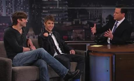 Justin Bieber and Ashton Kutcher on Jimmy Kimmel Live (Part 1)