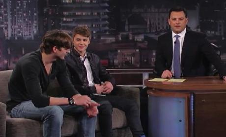 Justin Bieber and Ashton Kutcher on Jimmy Kimmel Live (Part 3)