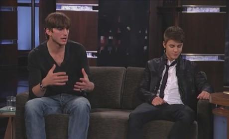 Justin Bieber and Ashton Kutcher on Jimmy Kimmel Live (Part 4)