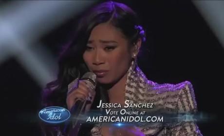 Jessica Sanchez - Stuttering (American Idol Top 7)