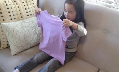 Little Girl Learns She's Going to Be a Big Sister