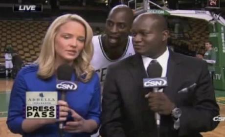 Kevin Garnett Interrupts Live Pregame Broadcast