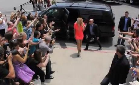 Britney Spears Arrives at X Factor Auditions