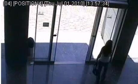 Girl Walks Into Glass Door