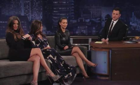 Kim Kardashian, Kourtney Kardashian, and Khloe Kardashian Odom on Jimmy Kimmel Live