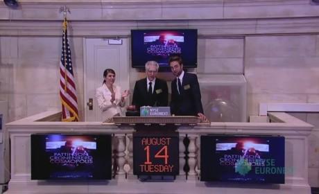 Robert Pattinson at New York Stock Exchange