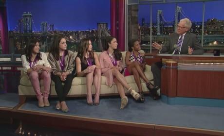 U.S. Women's Gymnastics Team on Letterman