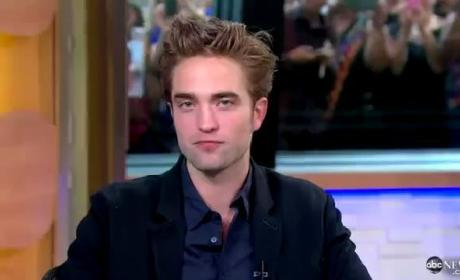 Robert Pattinson Good Morning America Interview