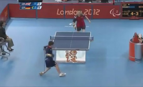 Insane Table Tennis Shot at Paralympics