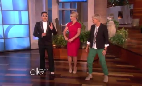 "Britney Spears Does ""Gangnam Style"" Dance on Ellen"