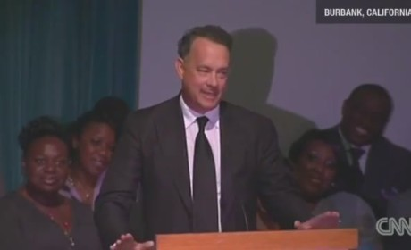 Tom Hanks at Michael Clarke Duncan Memorial Service
