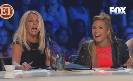Britney Spears Freaked Out By Lightning on The X Factor