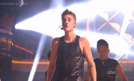 Justin Bieber on Dancing with the Stars Results Show