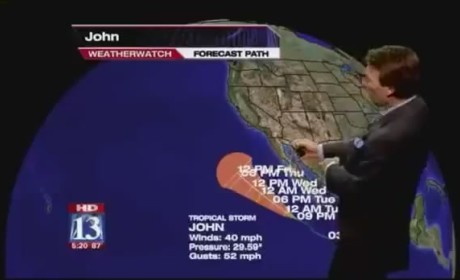 Weather Guy Really Likes Tropical Storm