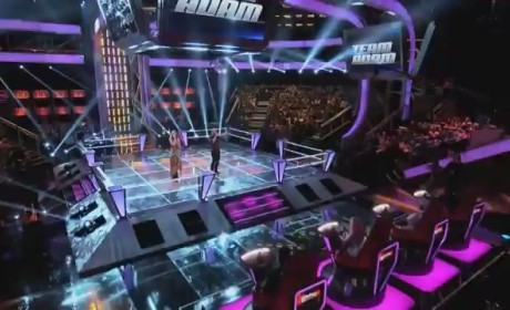 Loren Allred vs. Brian Scartocci; Cassadee Pope vs. Ryan Jirovec; Joe Kirkland vs. Samuel Mouton (The Voice Battle Rounds)