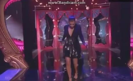 Kim Kardashian Stumbles at MTV EMAs