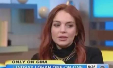 Lindsay Lohan on Good Morning America: Dishing on Liz & Dick, Playing Dumb on Half-Sister