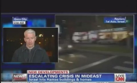 Anderson Cooper Dodges Bomb in Gaza, OWNS Twitter Follower and Coconut Flan