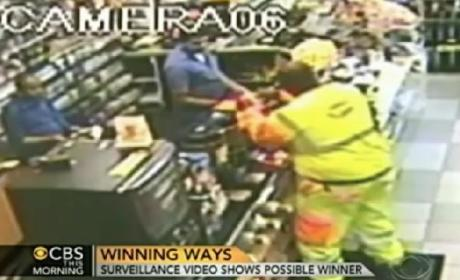 Powerball Surveillance Video: $384 Million Winner Captured on Tape?