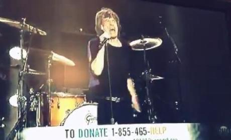 Rolling Stones Perform at 12-12-12 Concert, Mick Jagger Cracks Sandy Joke