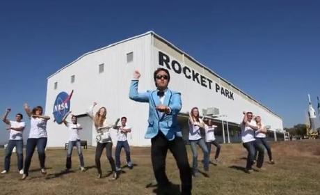 NASA Gangnam Style: Johnson Space Center Crew Gets DOWN!