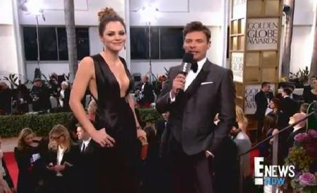 Katharine McPhee Golden Globes Dress Nearly Leaves Ryan Seacrest Speechless