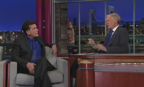 Charlie Sheen Talks Cocaine on The Late Show