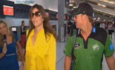 Elizabeth Hurley Spat: Take That, Journalist!