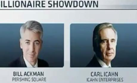 Billionaire Smackdown: Bill Ackman, Carl Icahn Throw Down on CNBC
