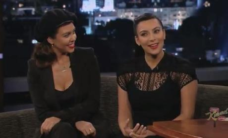 Kim and Kardashian and Kourtney Kardashian on Jimmy Kimmel Live