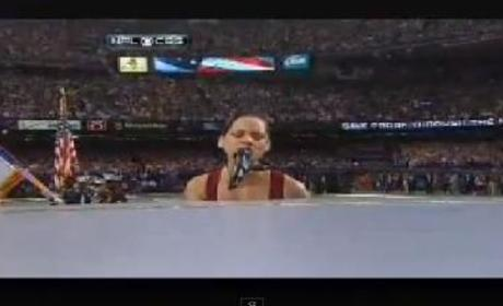 Alicia Keys National Anthem Performance