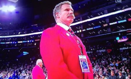 Will Ferrell Acts as Member of Staples Center Security Team [VIDEO]