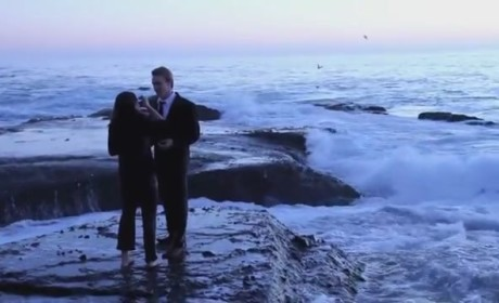 Marriage Proposal Wipeout: Wave Pummels Couple, Can't Ruin Magic Moment