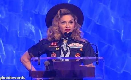 Madonna at GLAAD Awards