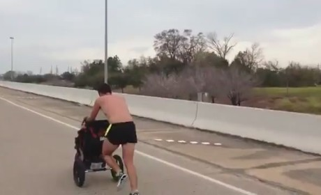 Terminally Ill Man Wins Marathon Pushing Daughter in Stroller