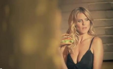 Heidi Klum Burger Ad