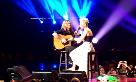 Pink Stops Concert to Comfort Crying Child
