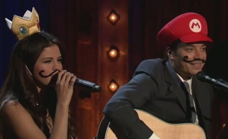 "Selena Gomez Duets with Jimmy Fallon on ""Mario Kart Love Song"""