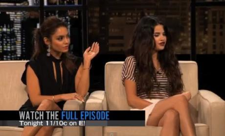 Selena Gomez and Vanessa Hudgens on Chelsea Lately