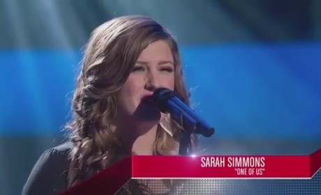Sarah Simmons - The Voice Blind Audition